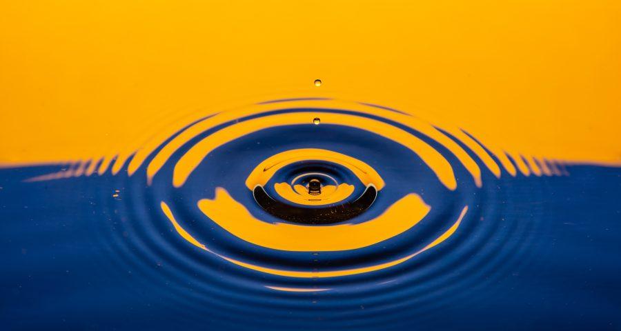 Water droplet rings