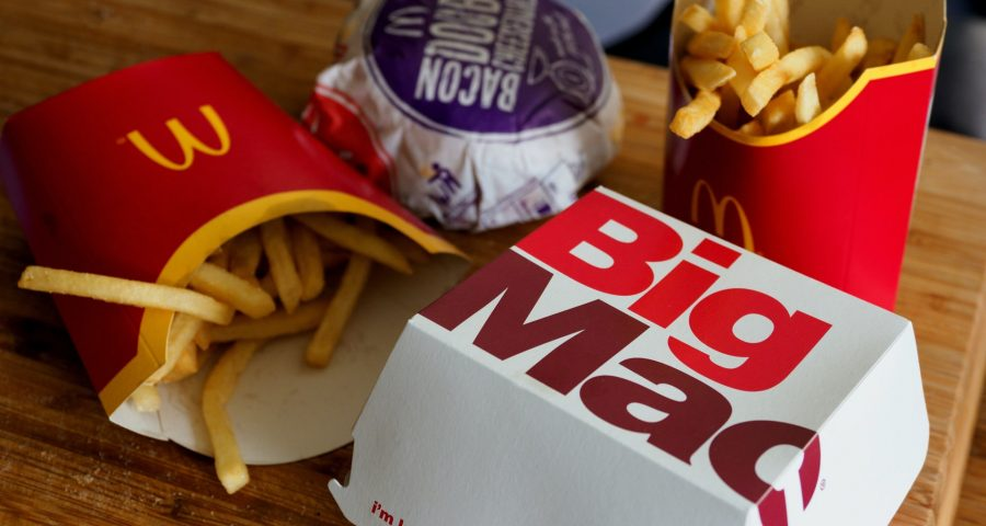 Image of fast food from mcdonald's take out
