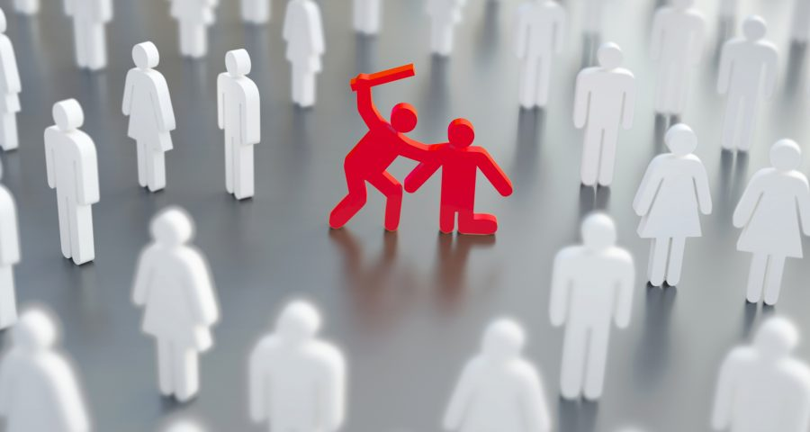 Diffusion of responsibility, bystander effect illustration — Stock Image & Photo from depositphotos.com